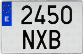 Señales y Placas 122SE - Matricula para ciclomotro 100 x 168 mm