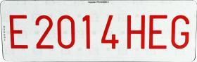 Señales y Placas 124S - Placa para cuatriciclos 210 x 85 mm