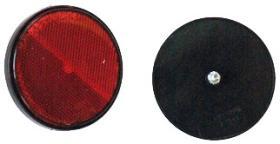 Señales y Placas 04003 - Reflectante redondo 80 mm blanco con tornillo