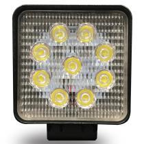 Señales y Placas FT040 - Faro de trabajo redondo 9 led 27 w luz concentrada